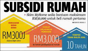 myhome subsidi rumah pertama
