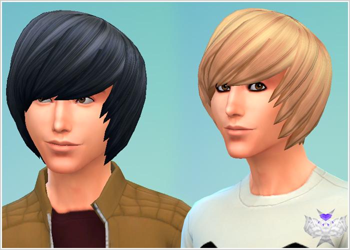 My Sims 4 Blog: David Sims Emo Hair for Males
