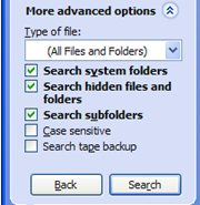 search hidden files