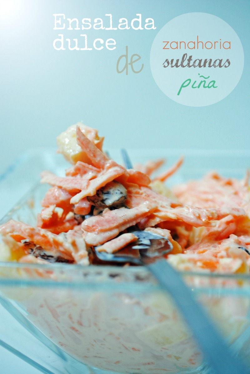 T a alia recetas ensalada dulce de zanahoria sultanas y - Dulce de zanahoria ...