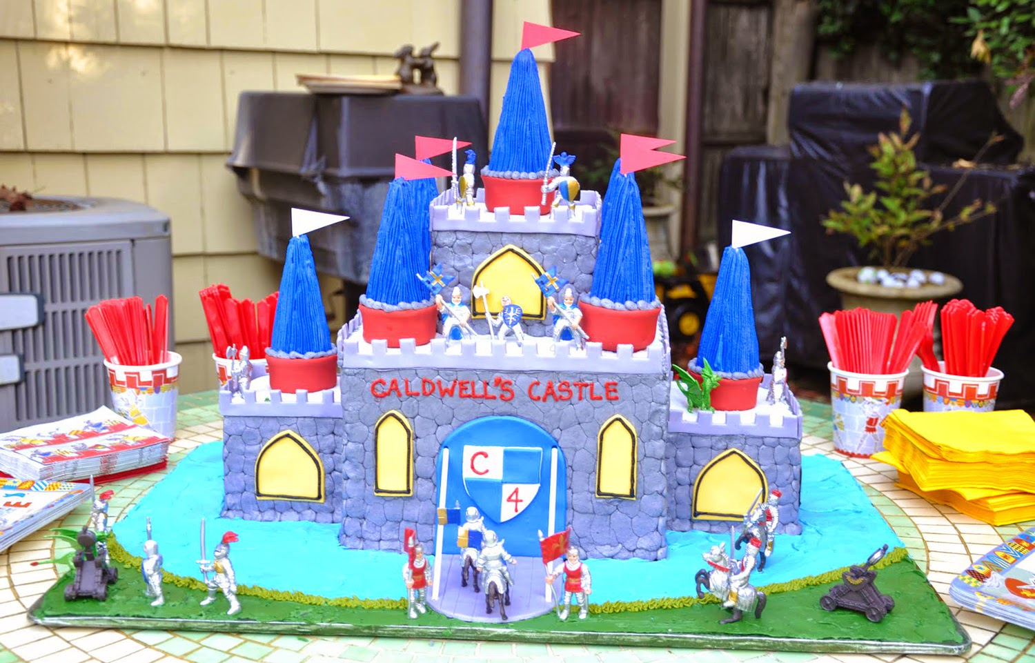 Knight Birthday Party Cake