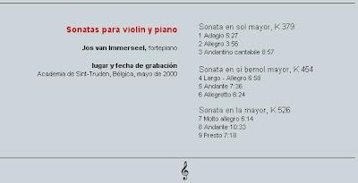 Mozart - Col. El País 250 Aniversario-(2006)-19-Sonatas para violin y piano-contenido