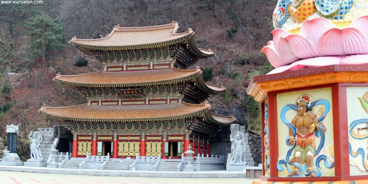 Pabellón Daejosajeon del templo Guinsa de la orden budista Cheontae