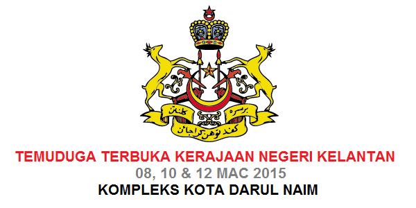 Jawatan Kerja Kosong Kerajaan Negeri Kelantan logo www.ohjob.info mac 2015