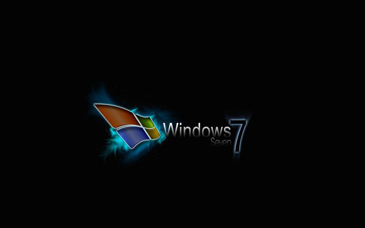 free wallpaper: black wallpaper windows 7