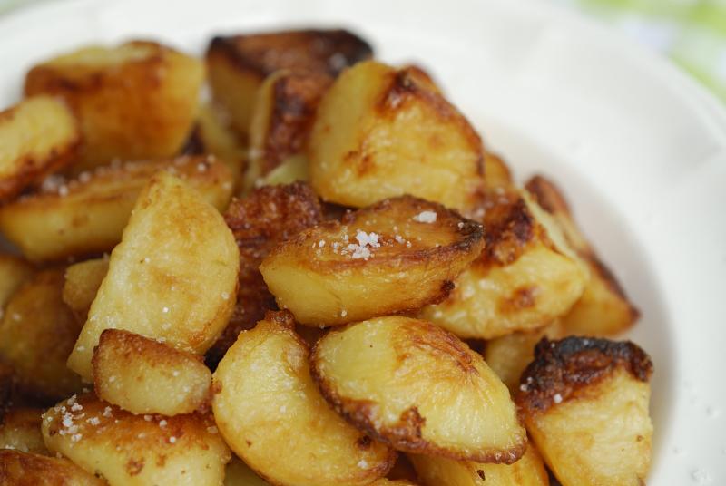 kruimige aardappels bakken