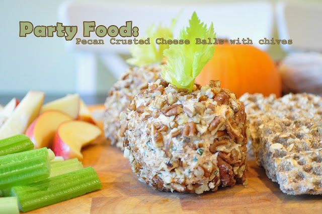 pecan crusted cheese balls for holidays