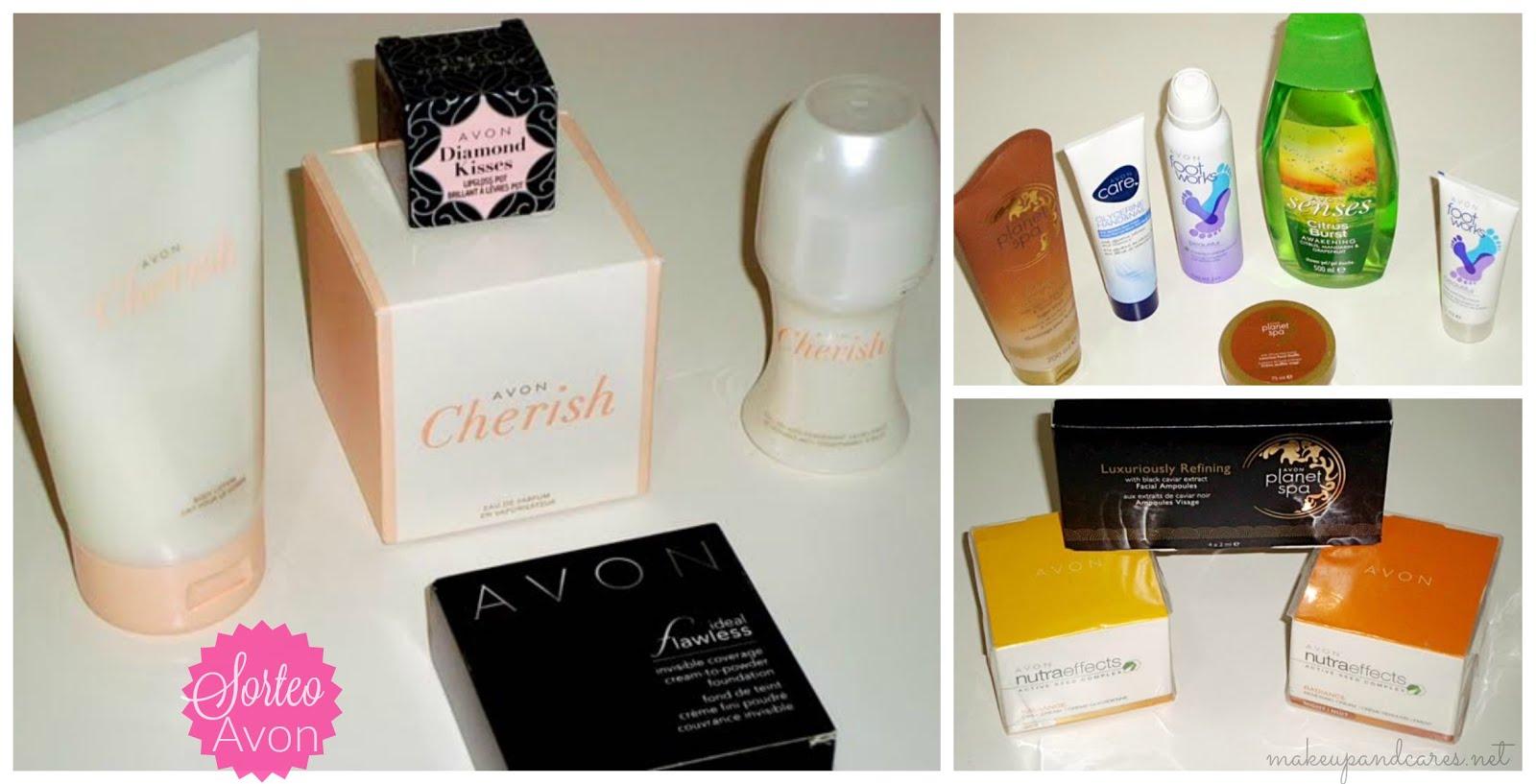 Sorteo de un lote de 14 productos de Avon