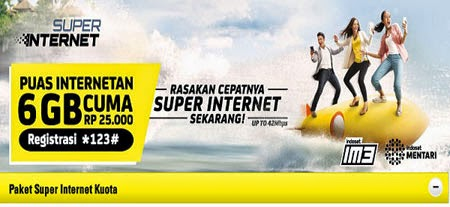 Cara Registrasi Paket Data Super Internet Indosat