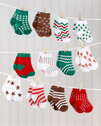 12 Days of Christmas Baby Socks