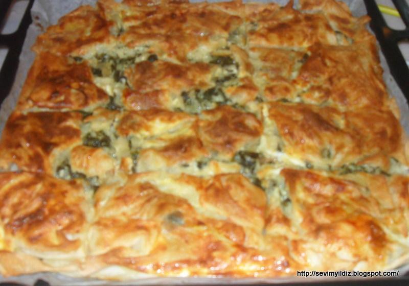 Ispanaklı Peynirli Börek (sodalı) – Kolay Yemek Tarifleri