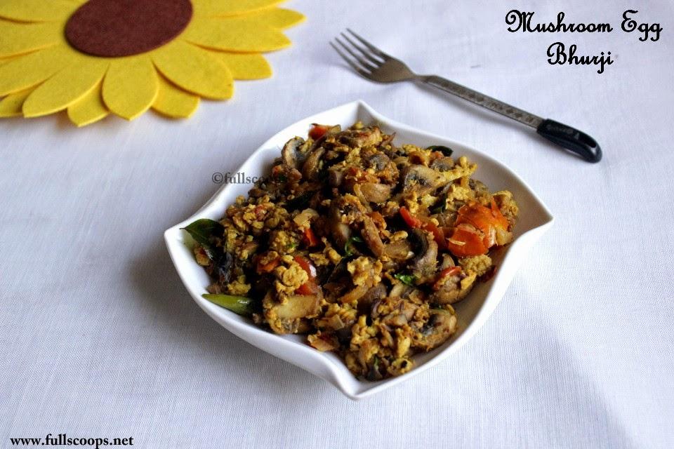 Mushroom Egg Bhurji