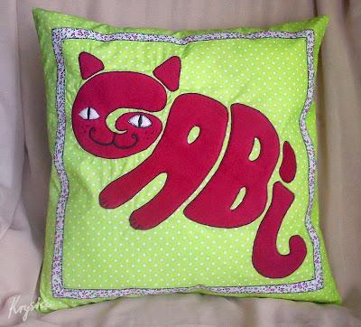 personalizowana poduszka kot Gabi