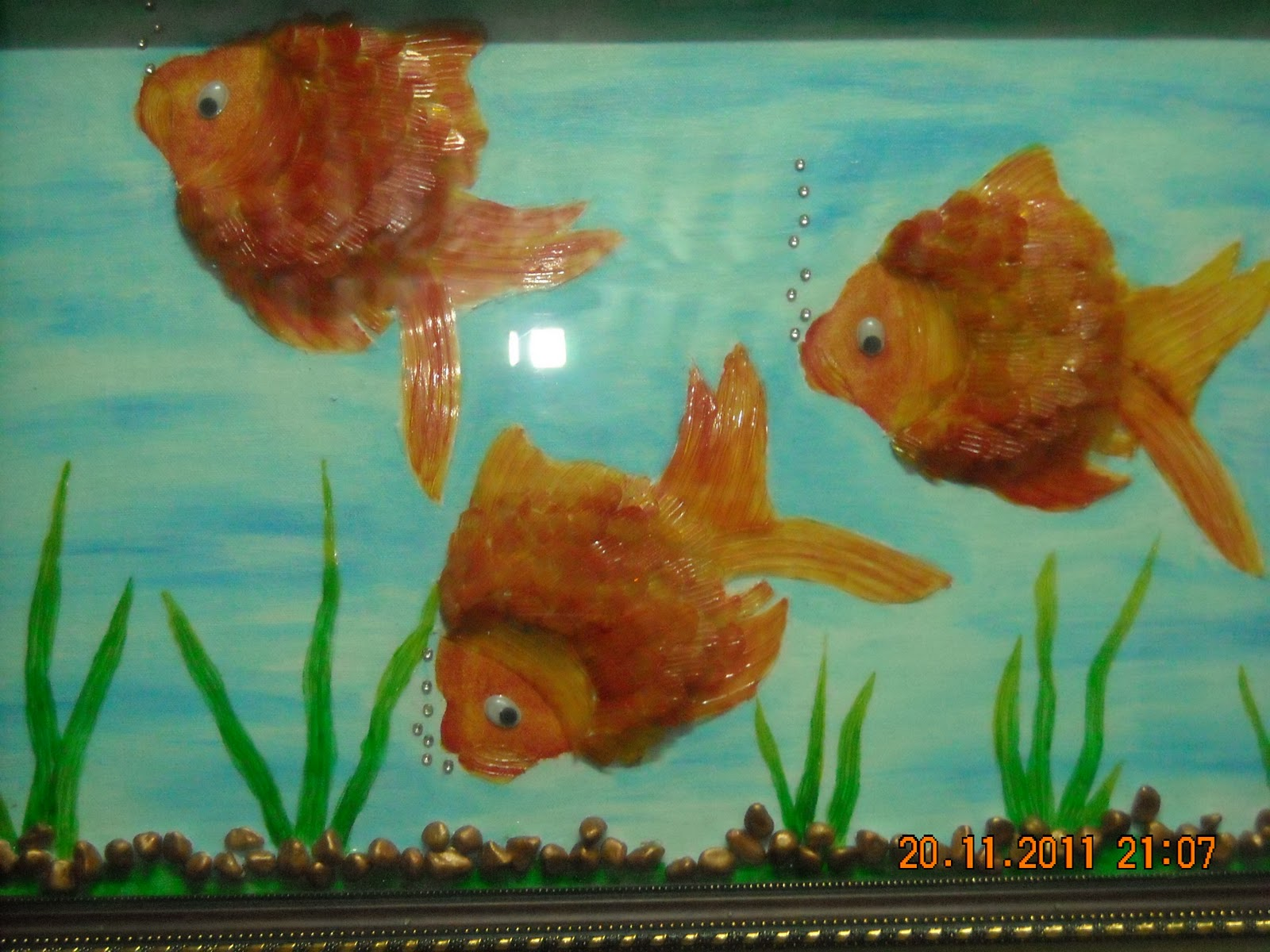 Orchids arts and craft gallery in palakkad fish art for Fish art and craft