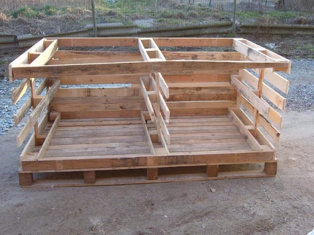 Riciclare pallet come costruire un pollaio for Come costruire un progetto