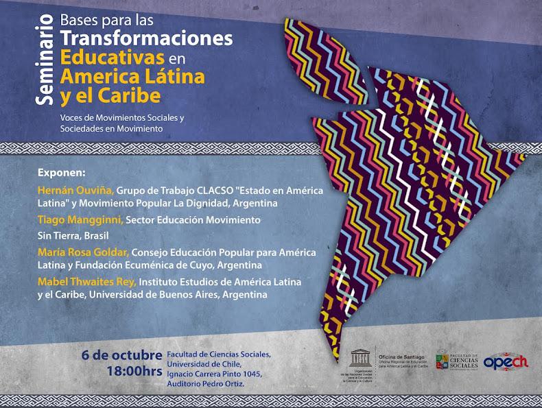 SANTIAGO:  SEMINARIO: BASES PARA LAS TRANSFORMACIONES EDUCATIVAS EN AMÉRICA LATINA Y EL CARIBE