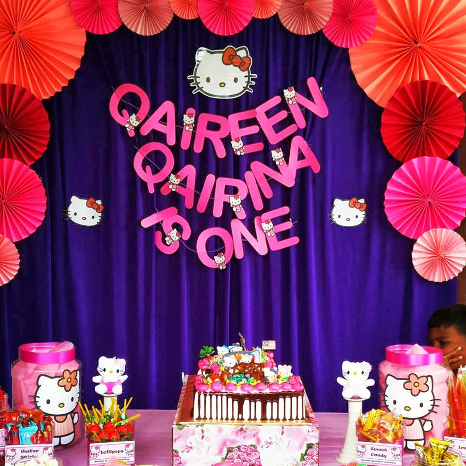 SyahNia DiaRy 1st Birthday Qaireen Qairina Hello Kitty Theme