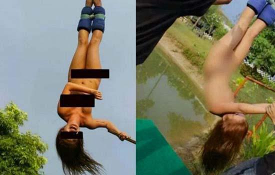 Wanita Buat Terjunan Bungee Jump Tanpa Seurat Benang Dikecam