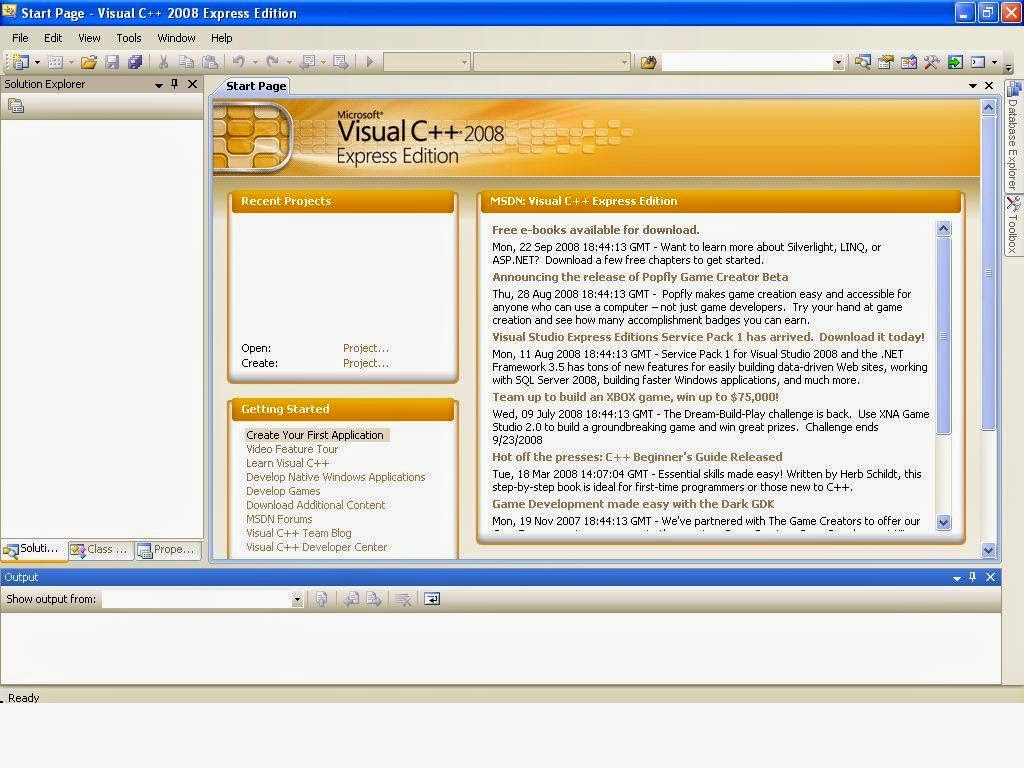 Download Microsoft Visual C++ 2008 Express Edition FullVersion