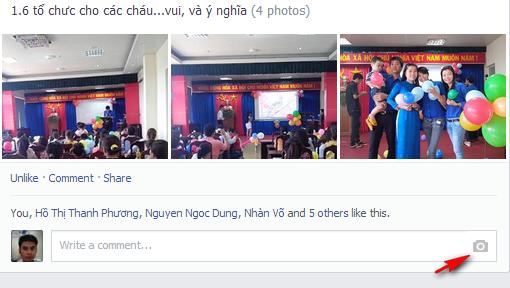 "Hướng dẫn chèn ""ảnh trong comment"" Facebook."