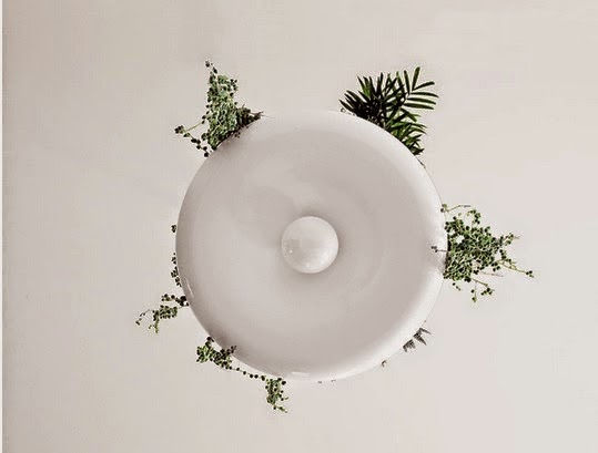 ecologie lampe de plafond avec jardini re accessoires pour des jardins en miniature. Black Bedroom Furniture Sets. Home Design Ideas
