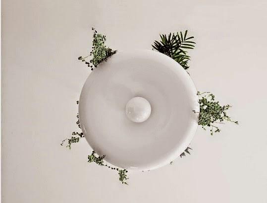 Ecologie lampe de plafond avec jardini re accessoires for Accessoire plafond suspendu