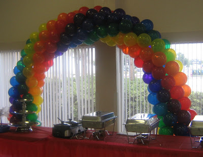 Party people event decorating company candy themed baby for Balloon decoration companies