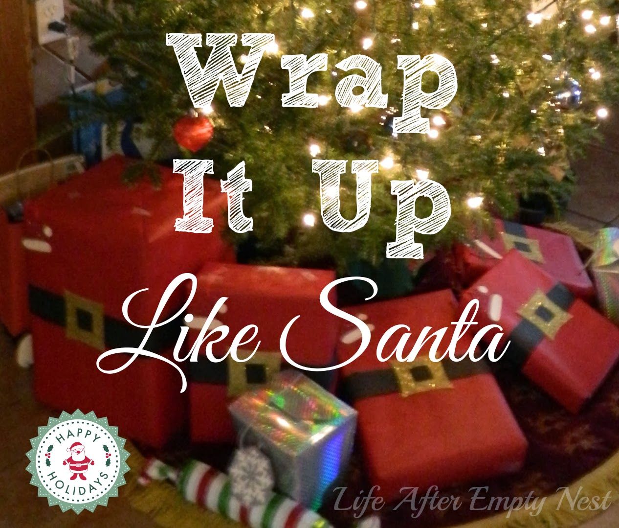 Wrap your Holiday Presents to Look Like Santa!