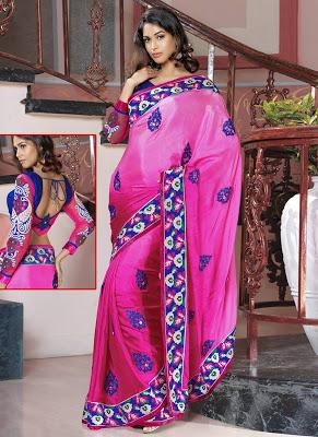 Pink-Shaded-Saree