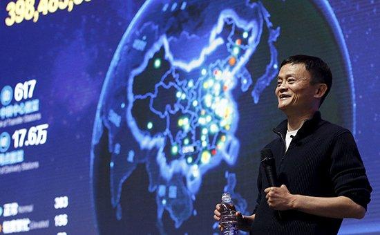 Основатель интернет-компании Alibaba Джек Ма во время тотальной онлайн-распродажи