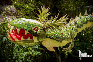 Dragon Watermelon Carving by The Invisible Underground