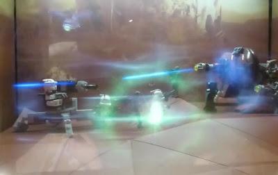 usan hologramas en lego starwars