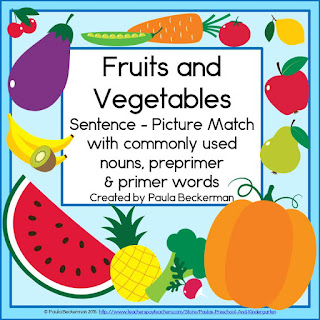 https://www.teacherspayteachers.com/Product/Fruits-and-Vegetables-Sentence-Picture-Match-1660977