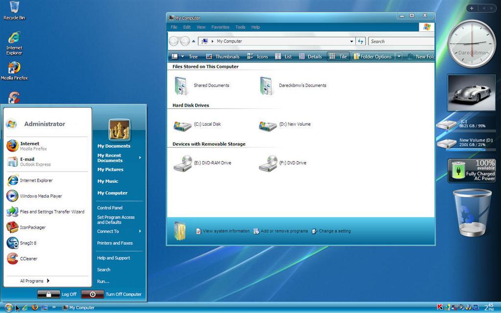 Windows xp pro sp3 vistavg black blue ultimate style 2010 for Window xp iso