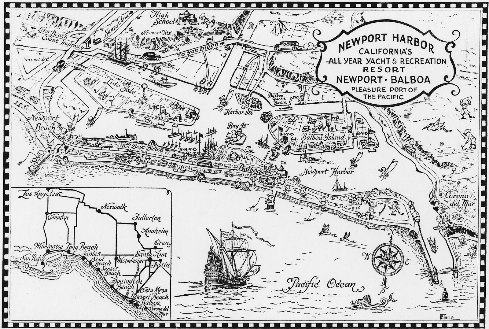 OC History Roundup Newport Harbor And Claude G Putnam - Los angeles gas map