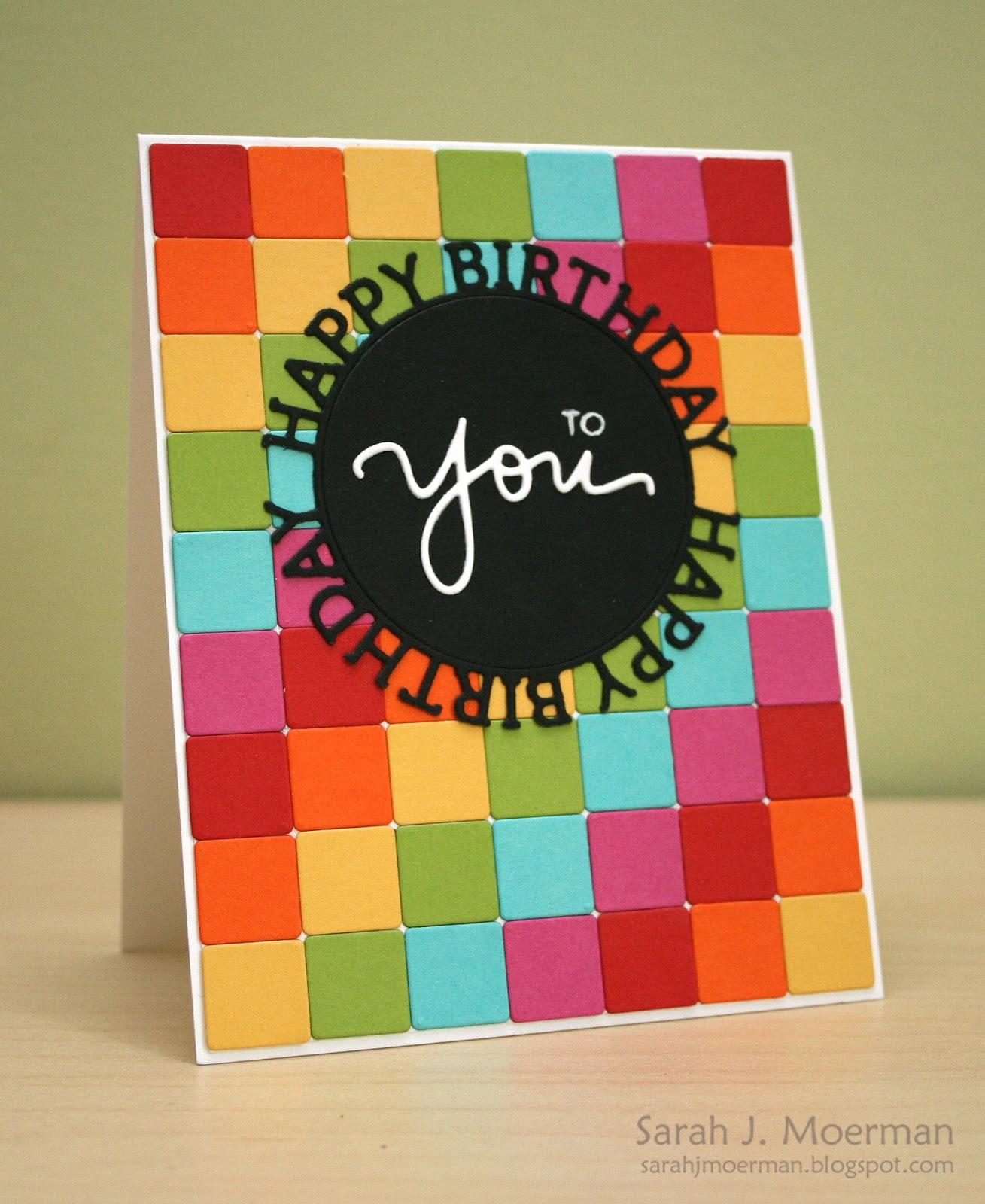 My Impressions Simon Says Stamp Rainbow Birthday Card
