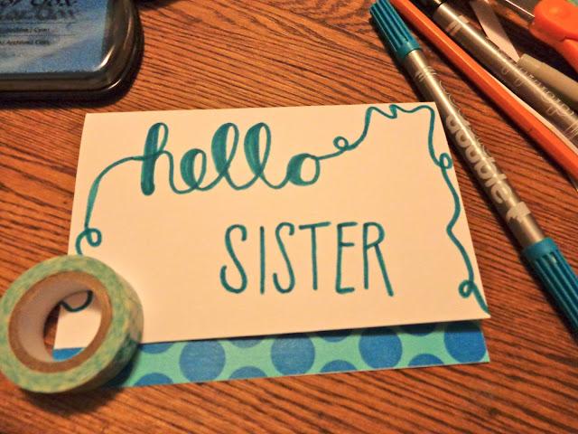 Hello sister card
