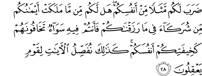 Surat Ar Rum Ayat 28