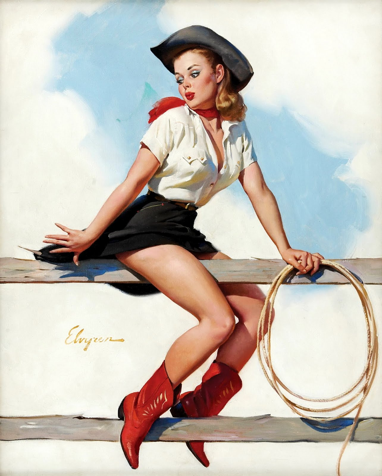 Down on the Farm: Vintage Pin-up Girls From the Hay Days thumbnail