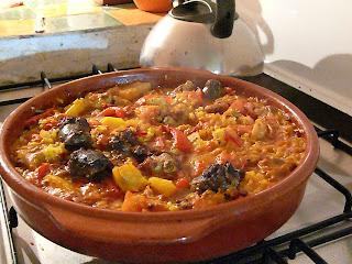 cazuela rice dish