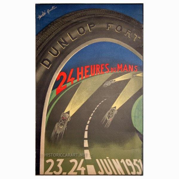 Affiche officielle des 24 Heures du Mans 1951