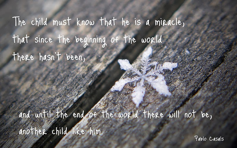 Snow Flakes and Children Quotes