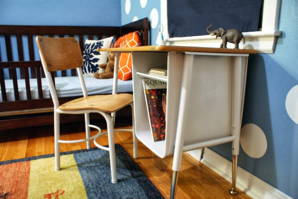 Vintage School Desk and Chair Revamped with Paint