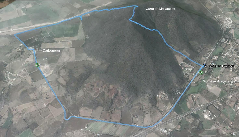 Ruta Cerro de Mazatepec - Carboneros - Estación del Tren