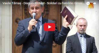 Vasile Tămaș — Discurs Protest - Solidari cu familiile rămase abuziv fără copii