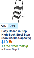 http://slickdeals.net/f/7453006-easy-reach-3-step-high-back-steel-step-stool-200lb-capacity-10-free-store-pickup