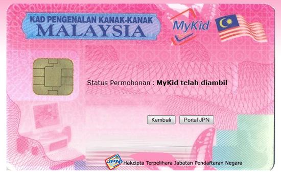 Cara Semak Status Permohonan MyKid Secara Online