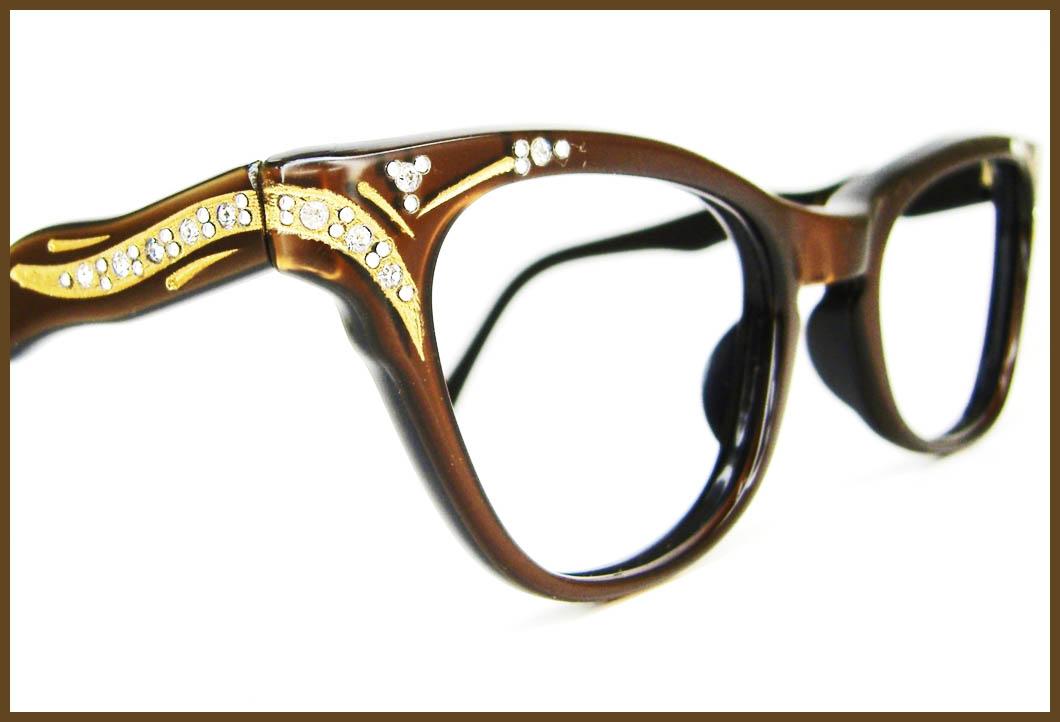 Cat\'s Red-Hot Eyewear Affair ♥: Sparkling Cat Eye Frames: Vintage ...