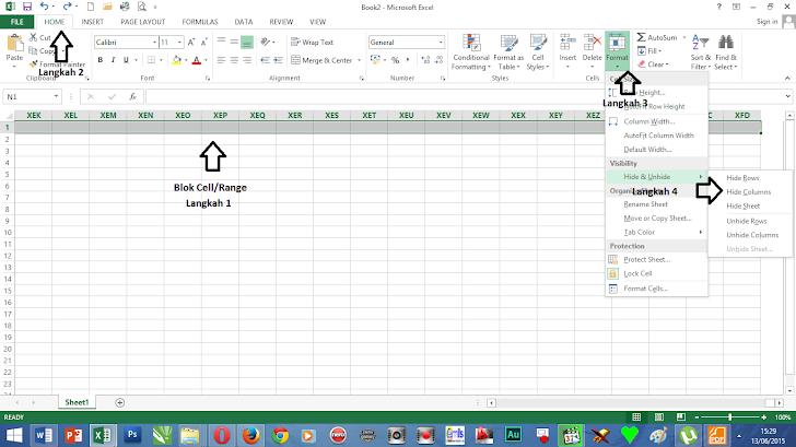 Cara Membatasi Tampilan Kolom dan Baris Worksheet Excel 2013