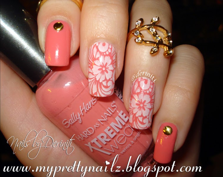 ... Nail Art Gallery peach Nail Art Photos - peach colored nail designs ... - Peach Colored Nail Designs